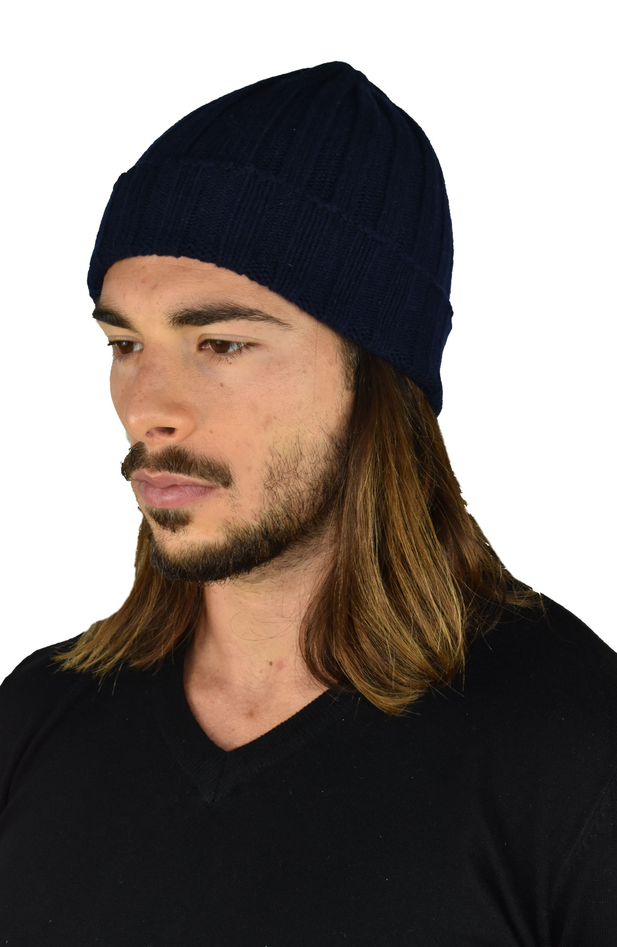 HENRYDARIO NAVY CAPPELLINO UOMO 100 PURO CASHMERE 1 1stAmerican cappellino 100% puro cashmere Made in Italy da uomo - caldo berretto invernale a coste larghe