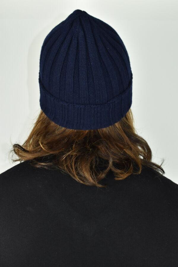 HENRYDARIO NAVY CAPPELLINO UOMO 100 PURO CASHMERE 2 1stAmerican cappellino 100% puro cashmere Made in Italy da uomo - caldo berretto invernale a coste larghe