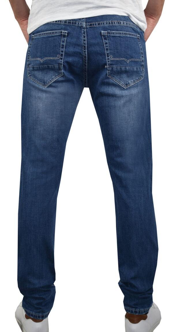 KIKI JEANS UOMO 5 TASCHE BLU MEDIO DENIM 1 1st american jeans fashion uomo 5 tasche colore blu medio denim - 99% cotton 1% elastan denim 1150 oz