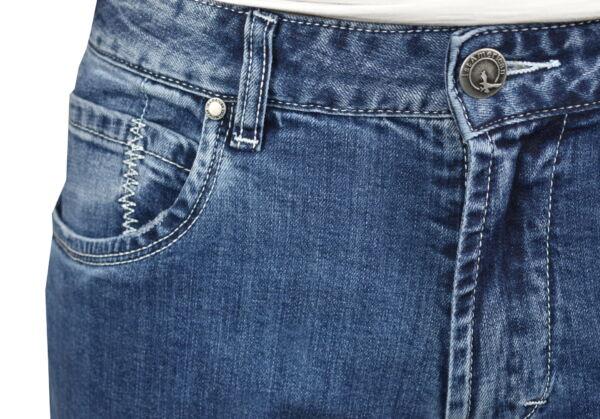KIKI JEANS UOMO 5 TASCHE BLU MEDIO DENIM 3 1st american jeans fashion uomo 5 tasche colore blu medio denim - 99% cotton 1% elastan denim 1150 oz