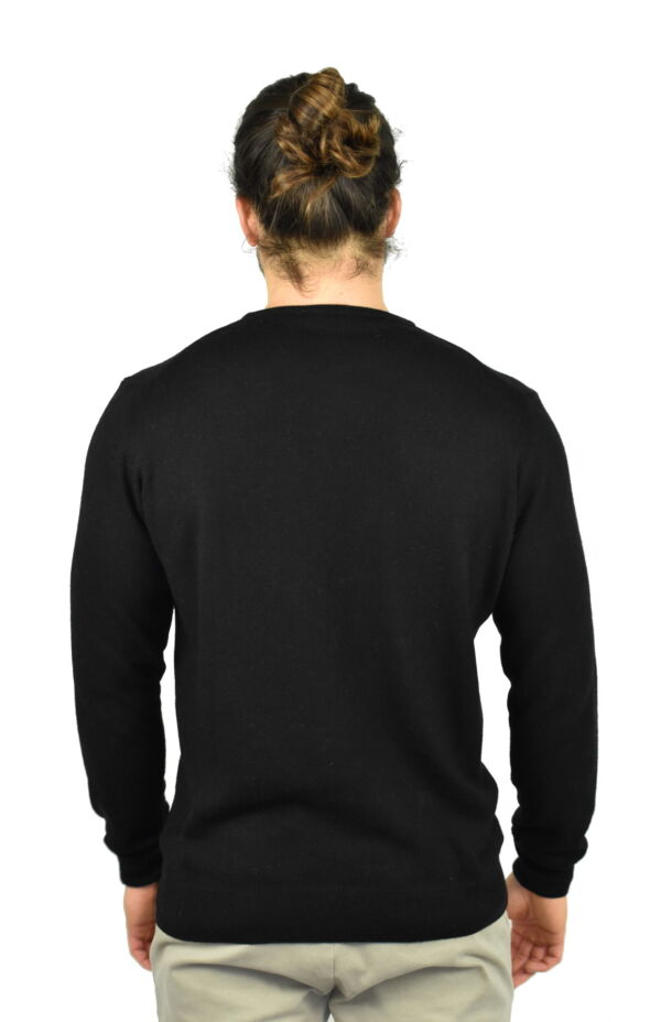 LAZZAROEMA NERO MAGLIA UOMO GIROCOLLO CASHMERE LANA MANICA LUNGA 1 1stAmerican maglia girocollo in lana e cashmere da uomo manica lunga - regular fit
