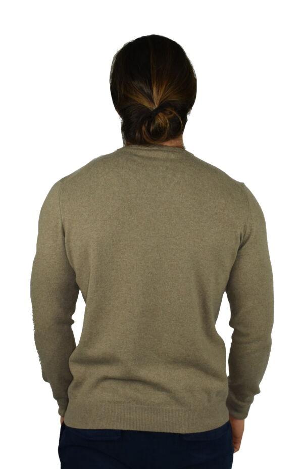 LAZZAROEMA TORTORA MAGLIA UOMO GIROCOLLO CASHMERE LANA MANICA LUNGA 1 1stAmerican maglia girocollo in lana e cashmere da uomo manica lunga - regular fit