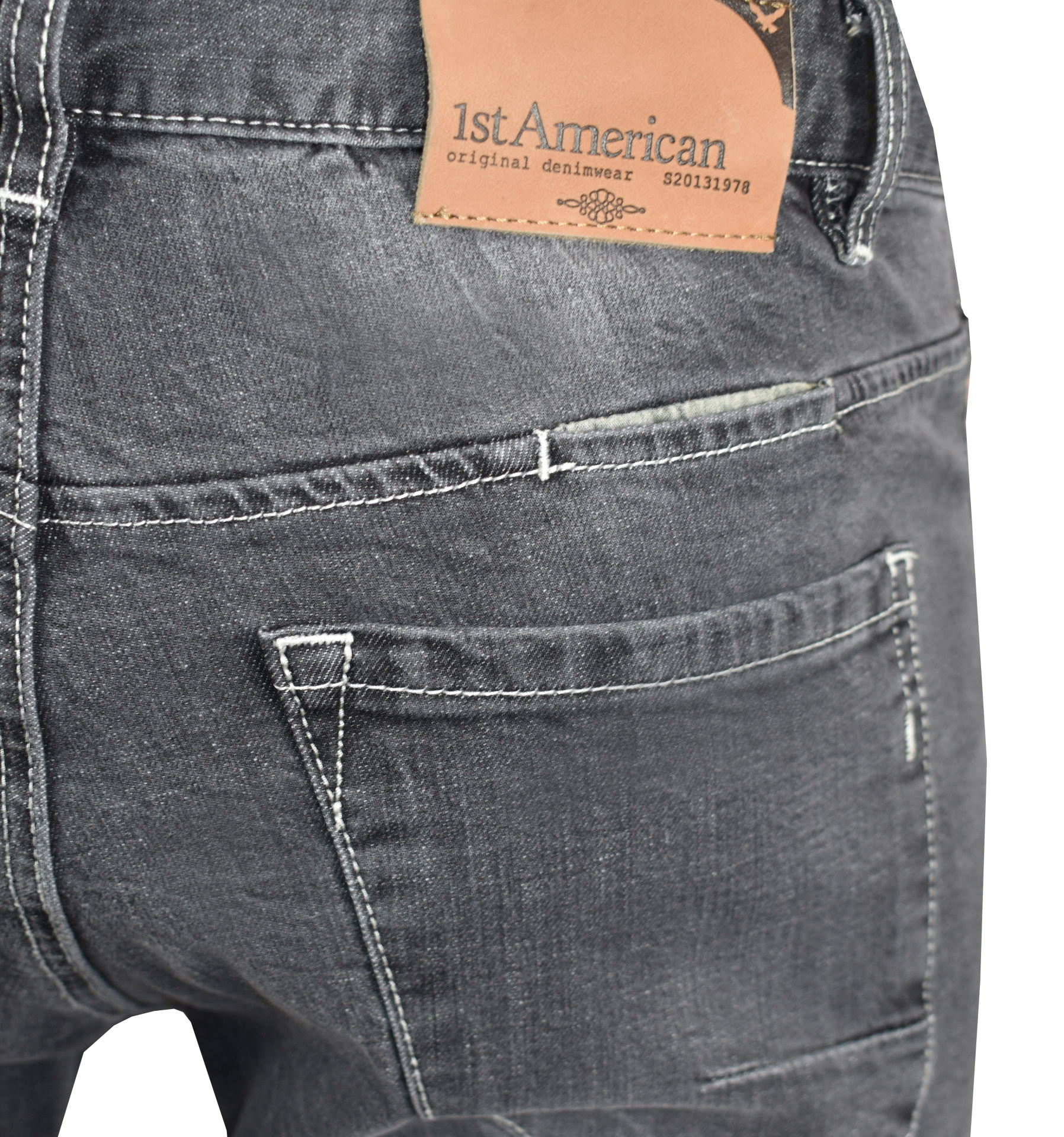 LEO JEANS UOMO 5 TASCHE GRIGIO CHIARO 4 1st american jeans fashion 5 tasche uomo colore grigio chiaro - 99% cotton 1% elastan denim 1150 oz