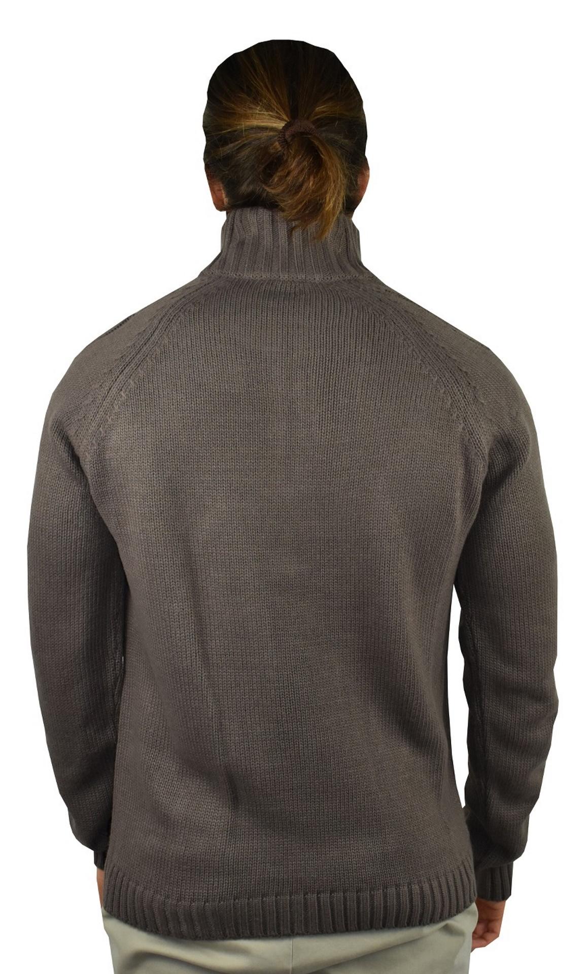 LUPINEMA CASTORO MAGLIA UOMO MEZZA ZIP MANICA LUNGA LAVORAZIONE TRECCE 1 1stAmerican maglione invernale da uomo mezza zip manica lunga lavorazione trecce