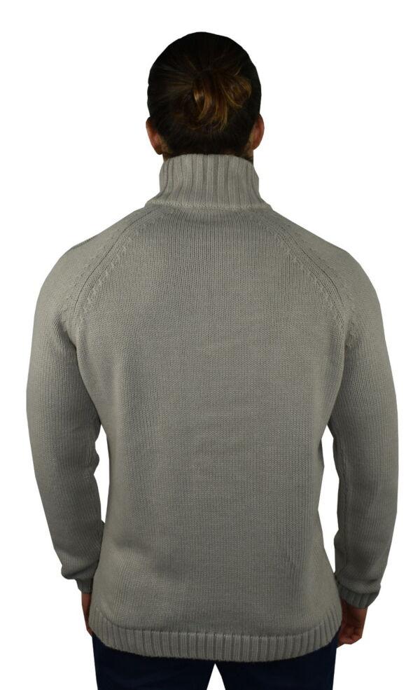 LUPINEMA FANGO MAGLIA UOMO MEZZA ZIP MANICA LUNGA LAVORAZIONE TRECCE 1 1stAmerican maglione invernale da uomo mezza zip manica lunga lavorazione trecce