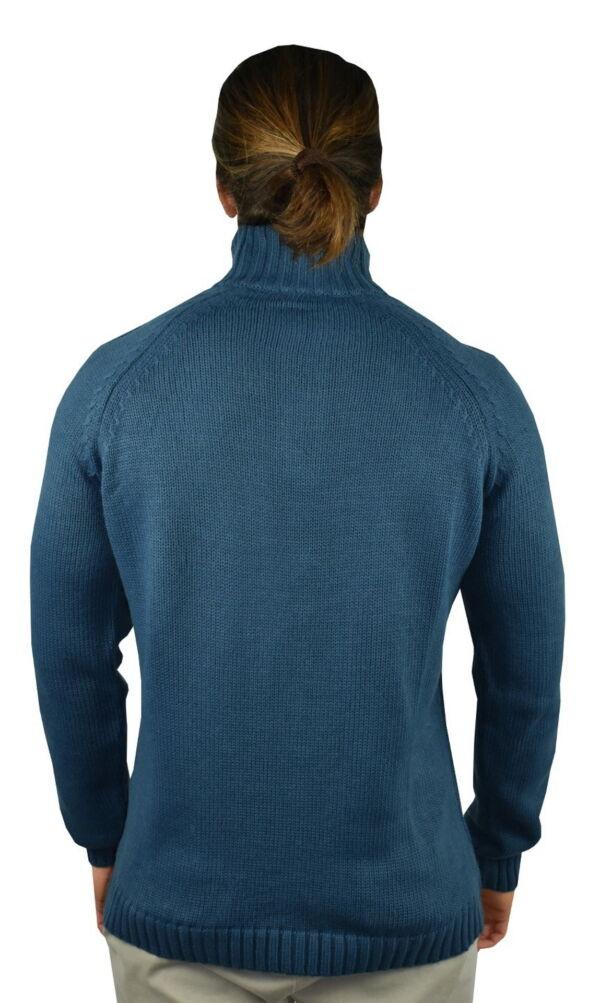 LUPINEMA PETROLIO MAGLIA UOMO MEZZA ZIP MANICA LUNGA LAVORAZIONE TRECCE 1 1stAmerican maglione invernale da uomo mezza zip manica lunga lavorazione trecce