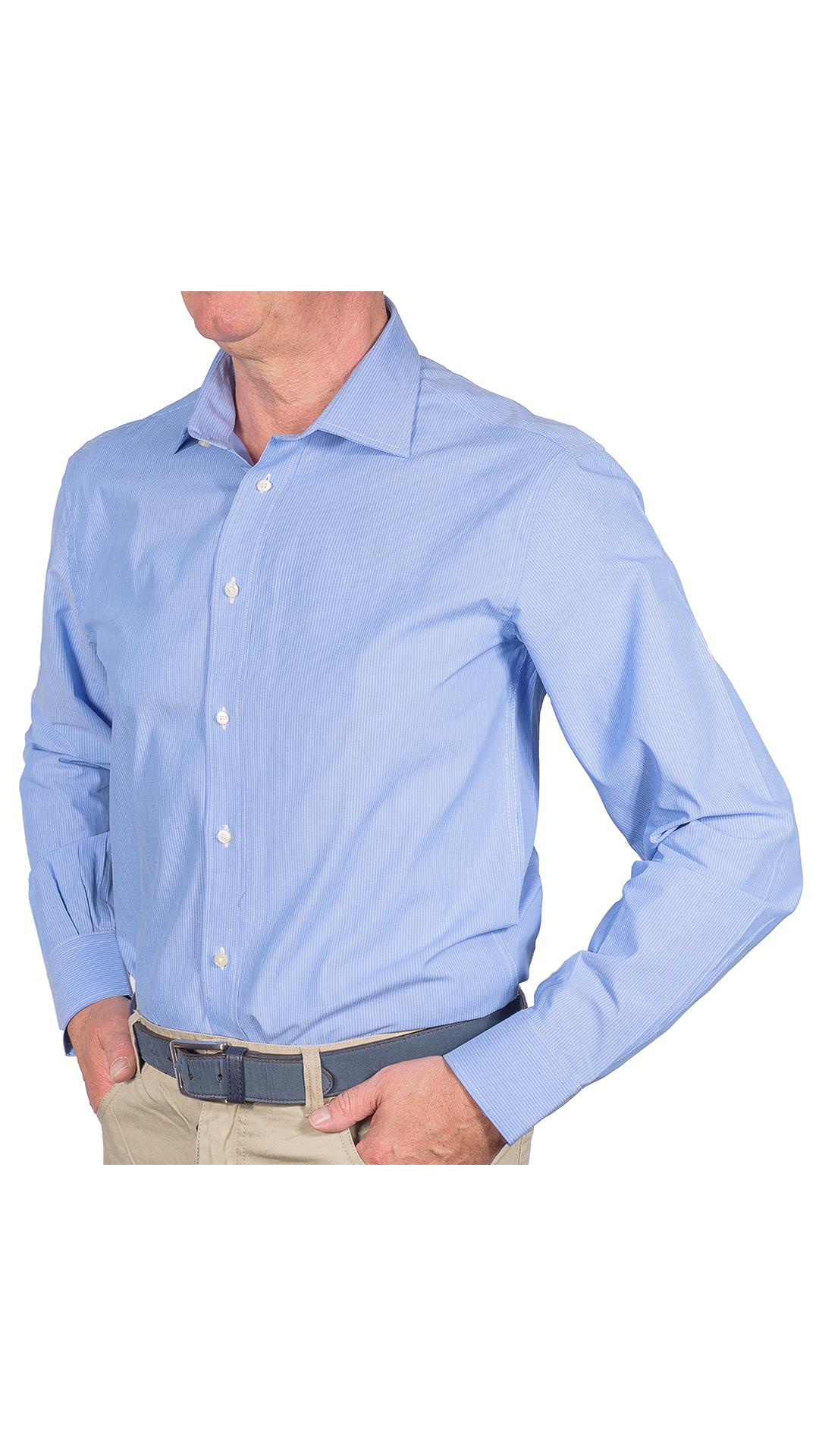 LUXURYIN0051 CAMICIA UOMO DOPPIO RITORTO MANICA LUNGA 1 1stAmerican camicia elegante da uomo in collo classico 100% cotone alta qualità doppio ritorto manica lunga – camicia sartoriale regular fit