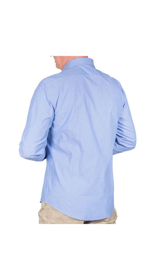 LUXURYIN0051 CAMICIA UOMO DOPPIO RITORTO MANICA LUNGA 2 1stAmerican camicia elegante da uomo in collo classico 100% cotone alta qualità doppio ritorto manica lunga – camicia sartoriale regular fit