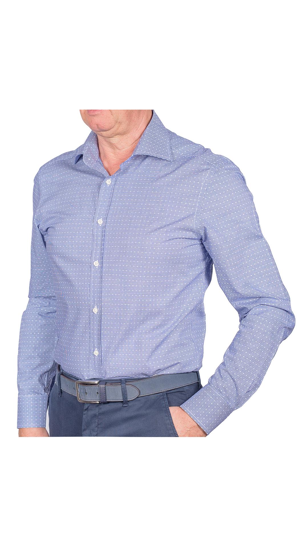 LUXURYJT0005 CAMICIA UOMO DOPPIO RITORTO MANICA LUNGA 1 1stAmerican camicia elegante da uomo in collo classico 100% cotone alta qualità doppio ritorto manica lunga – camicia sartoriale regular fit