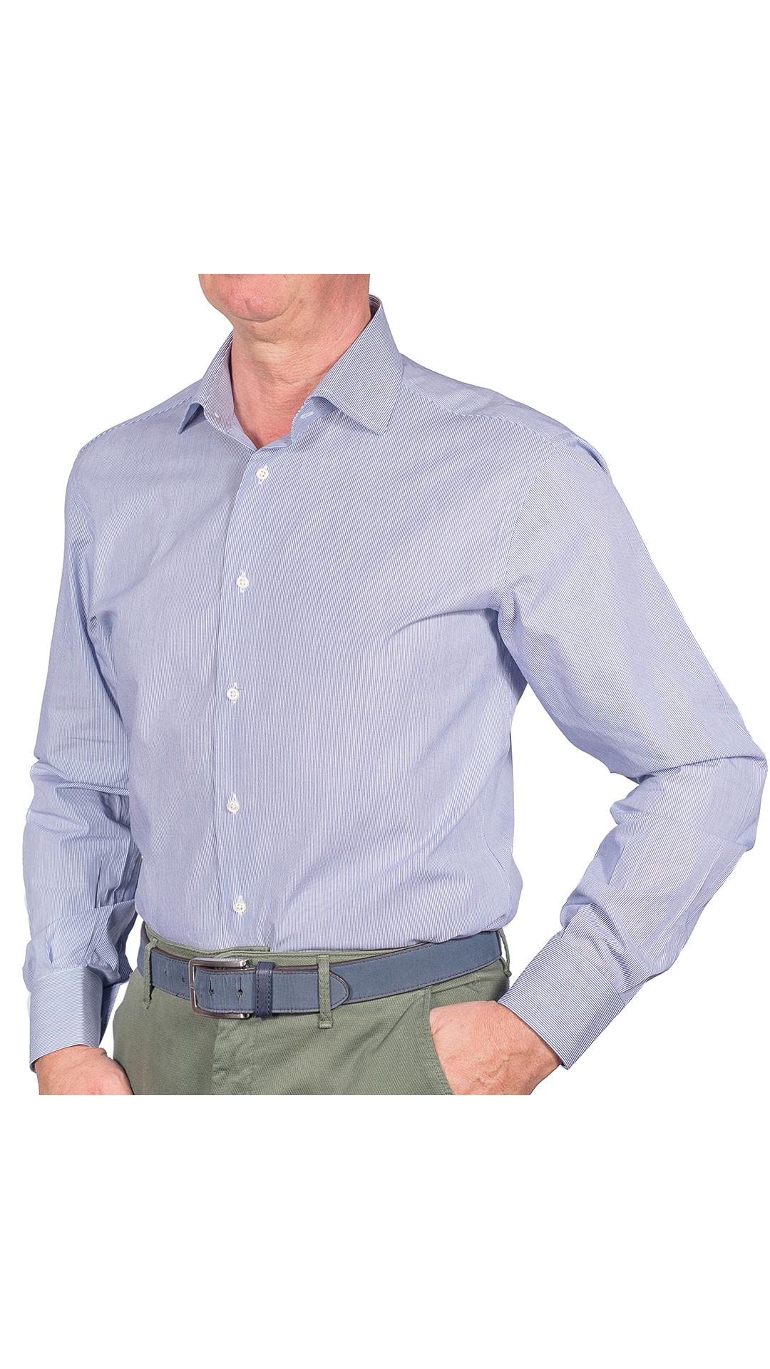 LUXURYJT0076 CAMICIA UOMO DOPPIO RITORTO MANICA LUNGA 1 1stAmerican camicia elegante da uomo in collo classico 100% cotone alta qualità doppio ritorto manica lunga – camicia sartoriale regular fit
