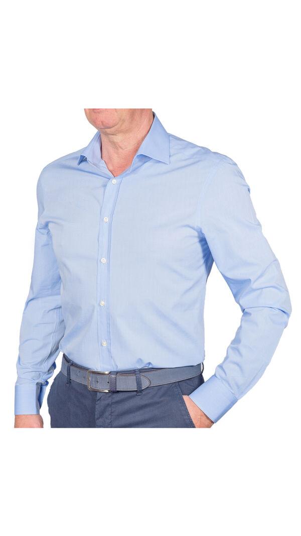 LUXURYJT0094 CAMICIA UOMO DOPPIO RITORTO MANICA LUNGA 1 1stAmerican camicia elegante da uomo in collo classico 100% cotone alta qualità doppio ritorto manica lunga – camicia sartoriale regular fit