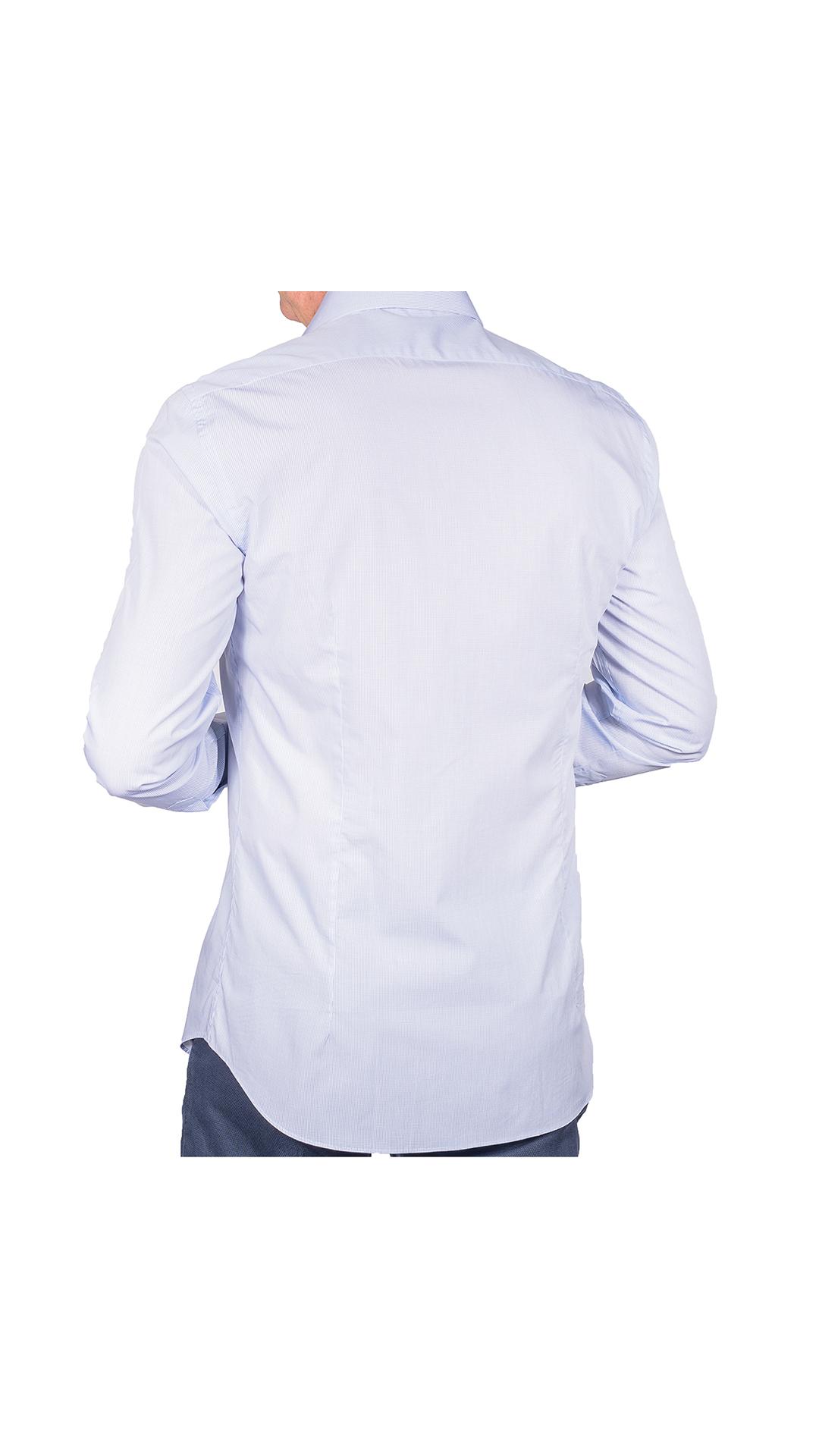 LUXURYJT0097 CAMICIA UOMO DOPPIO RITORTO MANICA LUNGA 2 1stAmerican camicia elegante da uomo in collo classico 100% cotone alta qualità doppio ritorto manica lunga – camicia sartoriale regular fit