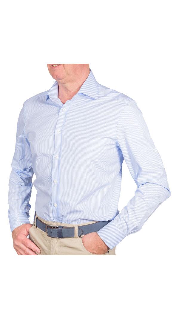 LUXURYJT0099 CAMICIA UOMO DOPPIO RITORTO MANICA LUNGA 1 1stAmerican camicia elegante da uomo in collo classico 100% cotone alta qualità doppio ritorto manica lunga – camicia sartoriale regular fit