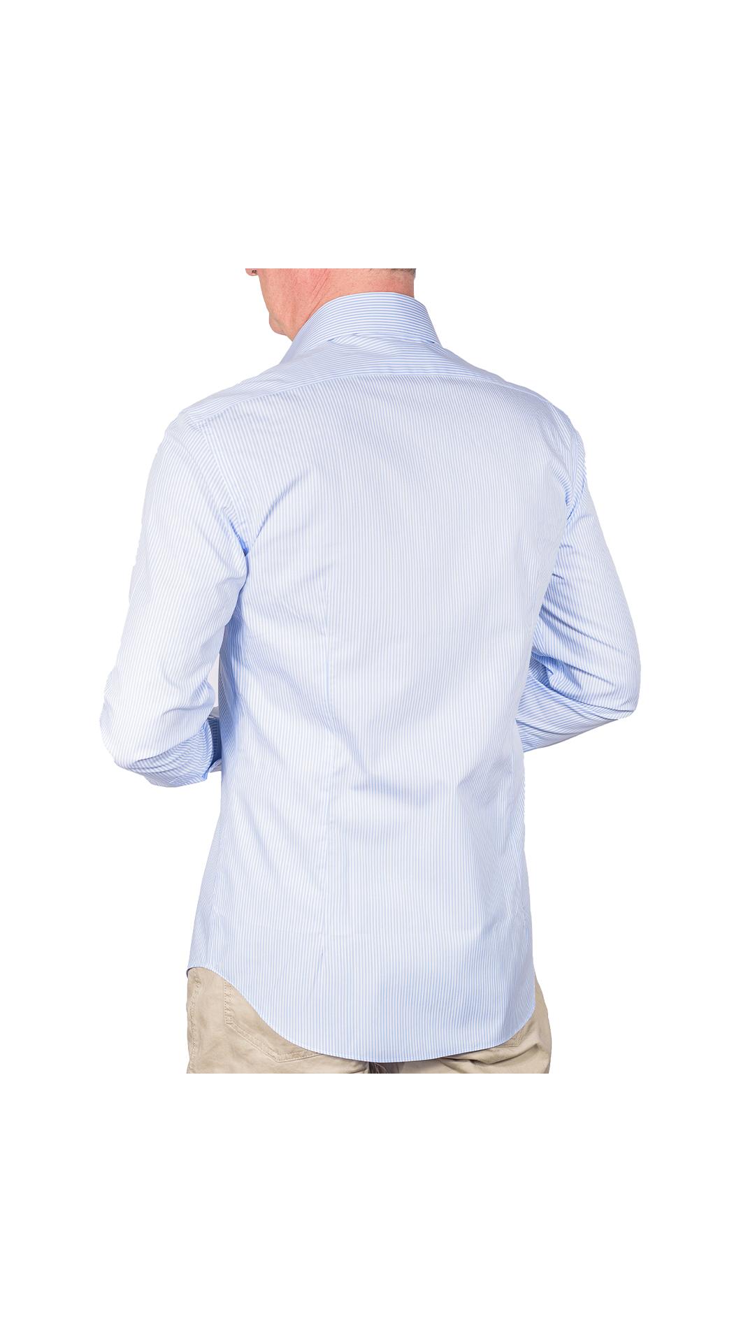 LUXURYJT0099 CAMICIA UOMO DOPPIO RITORTO MANICA LUNGA 2 1stAmerican camicia elegante da uomo in collo classico 100% cotone alta qualità doppio ritorto manica lunga – camicia sartoriale regular fit