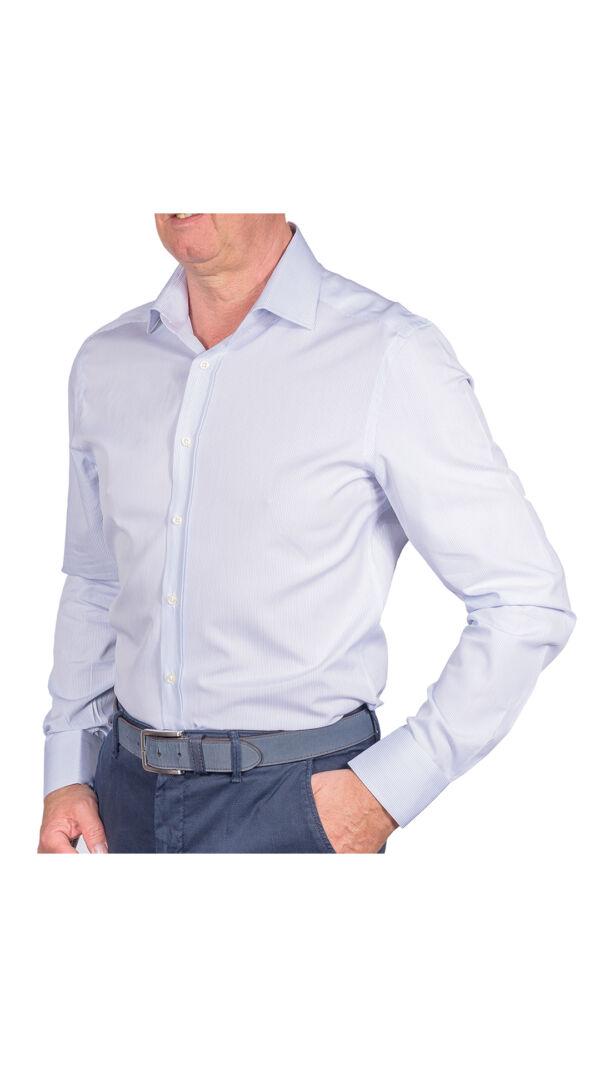 LUXURYJT0101 CAMICIA UOMO DOPPIO RITORTO MANICA LUNGA 1 1stAmerican camicia elegante da uomo in collo classico 100% cotone alta qualità doppio ritorto manica lunga – camicia sartoriale regular fit