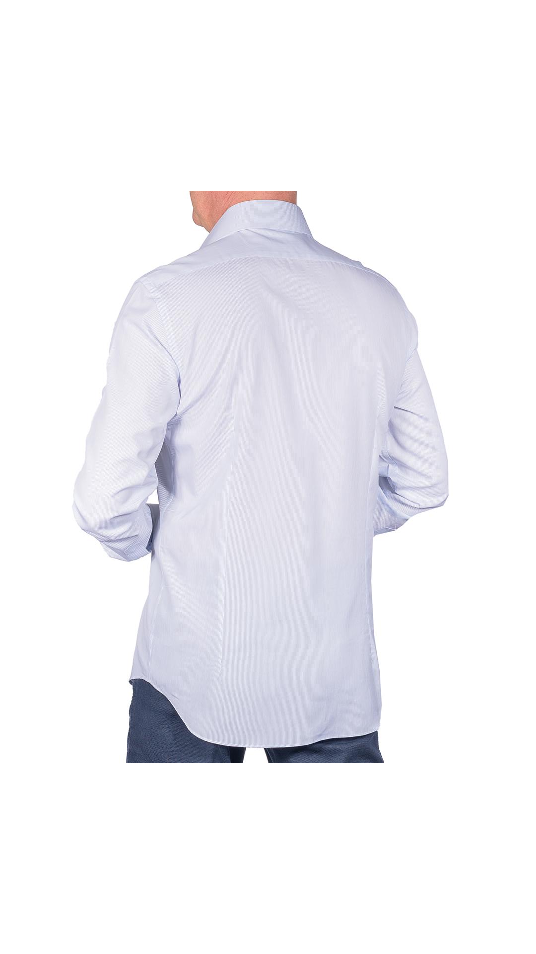 LUXURYJT0101 CAMICIA UOMO DOPPIO RITORTO MANICA LUNGA 2 1stAmerican camicia elegante da uomo in collo classico 100% cotone alta qualità doppio ritorto manica lunga – camicia sartoriale regular fit