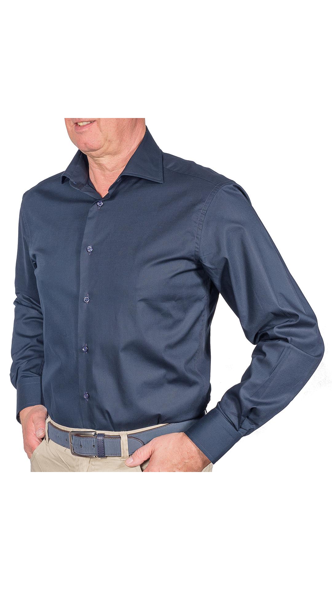 LUXURYJTEL0002 CAMICIA UOMO DOPPIO RITORTO MANICA LUNGA 1 1stAmerican camicia elegante da uomo in collo classico 100% cotone alta qualità doppio ritorto manica lunga – camicia sartoriale regular fit elasticizzata