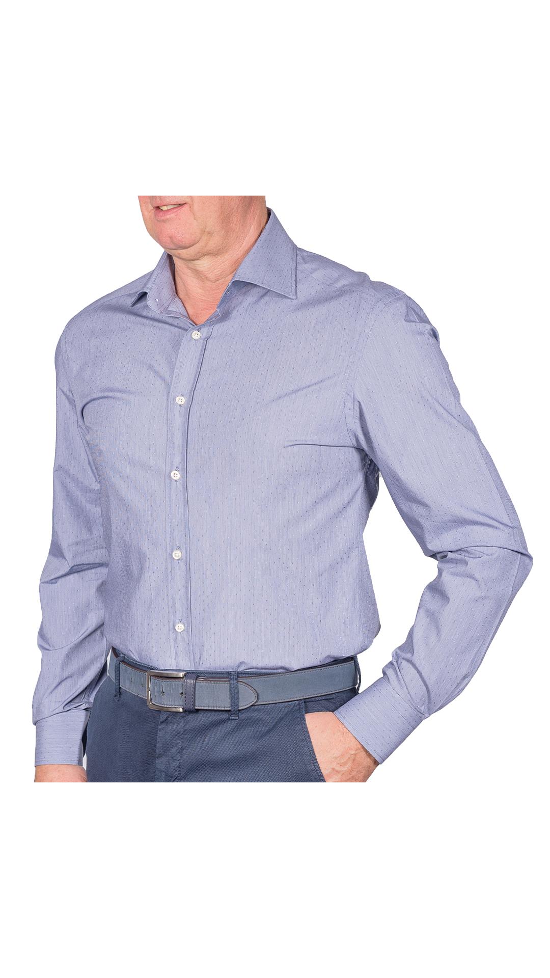 LUXURYJTEL0005 CAMICIA UOMO DOPPIO RITORTO MANICA LUNGA 1 1stAmerican camicia elegante da uomo in collo classico 100% cotone alta qualità doppio ritorto manica lunga – camicia sartoriale regular fit