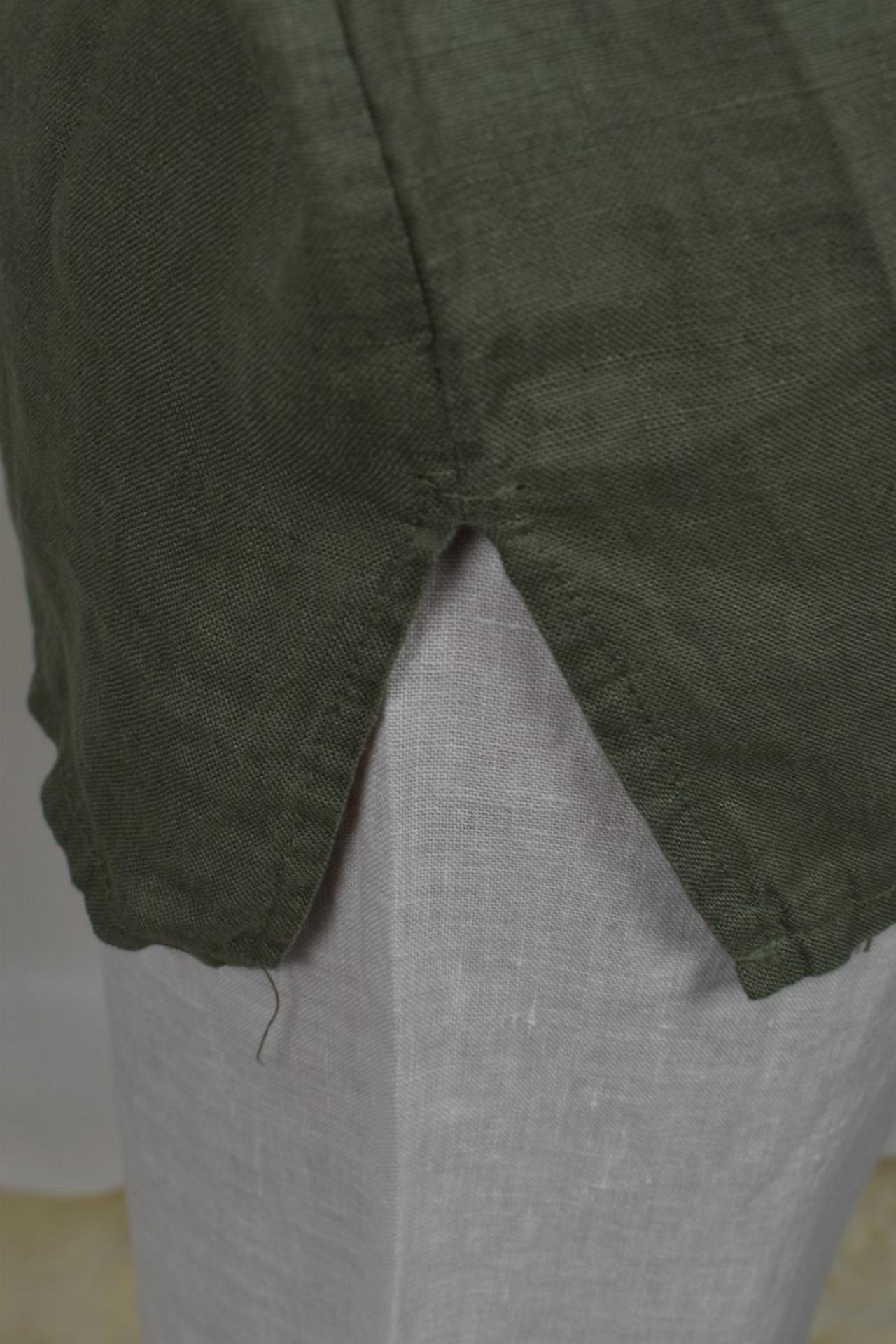 MAGMAXPE2101 ARMY MAGLIA DA DONNA GIROCOLLO CON MANICA A 34 100 LINO 3 1stAmerican maglia da donna girocollo con manica a 3/4 100% lino Made in Italy - t-shirt manica corta da donna mare in lino