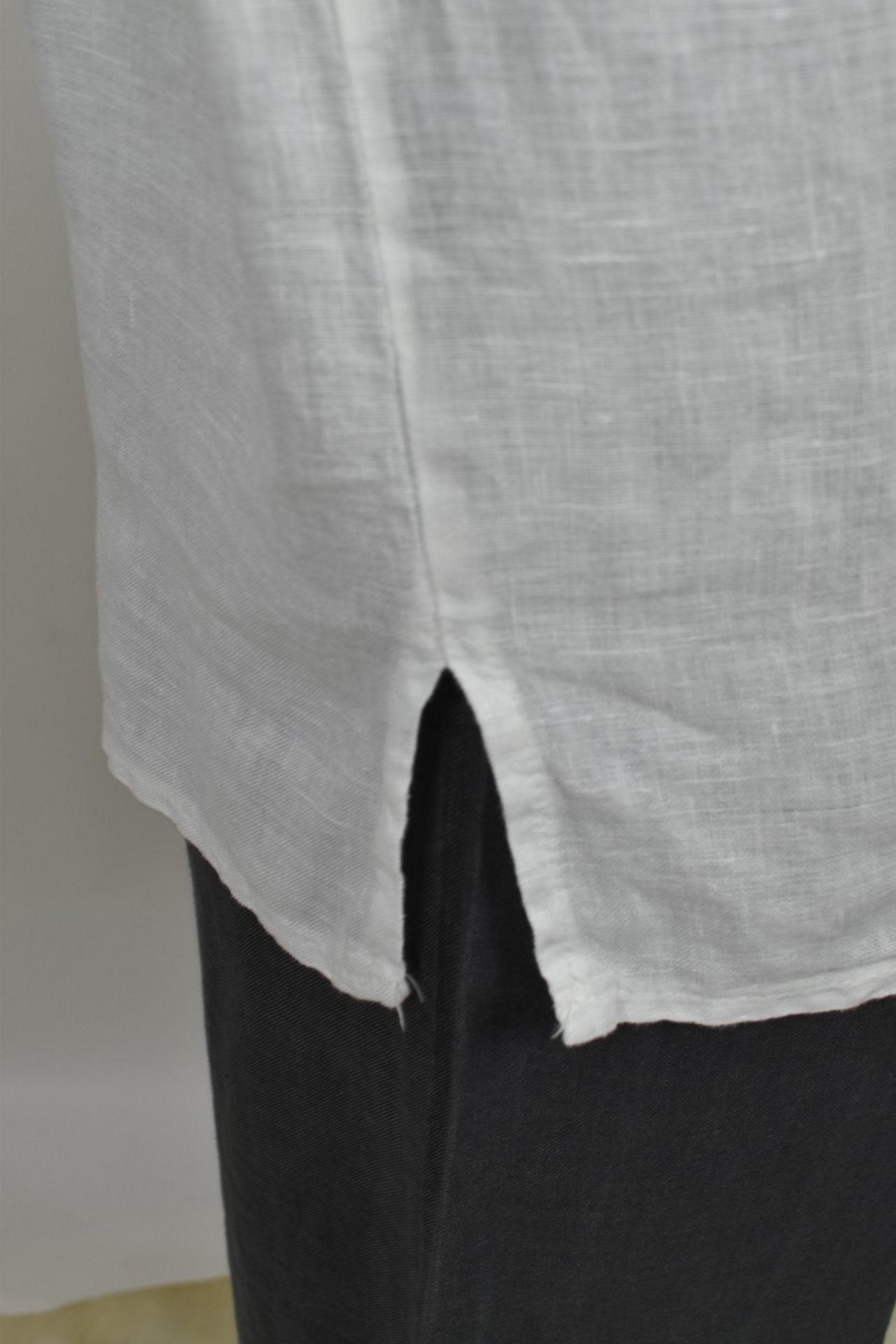 MAGMAXPE2101 BIANCO MAGLIA DA DONNA GIROCOLLO CON MANICA A 34 100 LINO 3 1stAmerican maglia da donna girocollo con manica a 3/4 100% lino Made in Italy - t-shirt manica corta da donna mare in lino