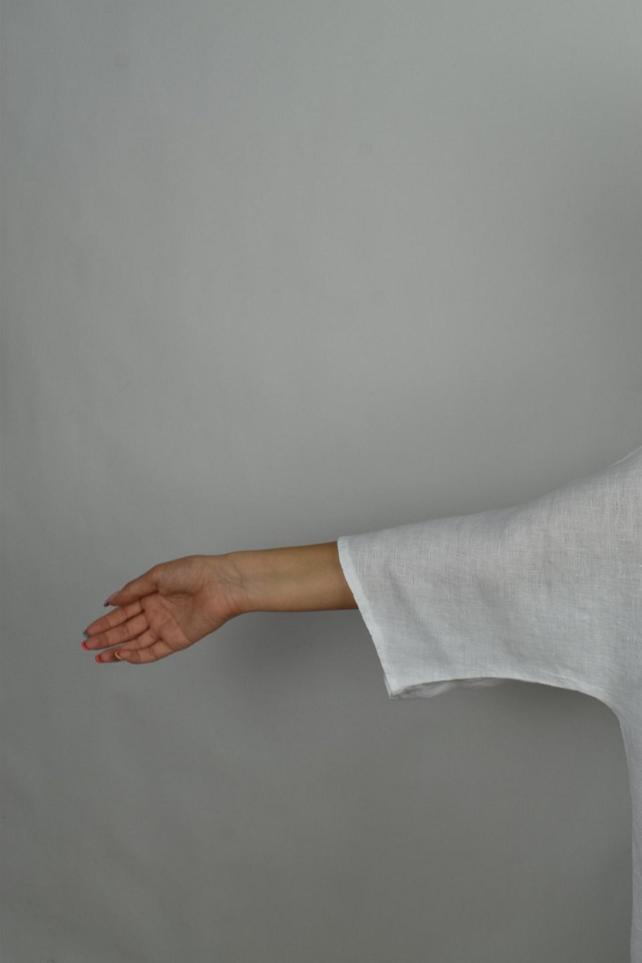 MAGMAXPE2101 BIANCO MAGLIA DA DONNA GIROCOLLO CON MANICA A 34 100 LINO 4 1stAmerican maglia da donna girocollo con manica a 3/4 100% lino Made in Italy - t-shirt manica corta da donna mare in lino