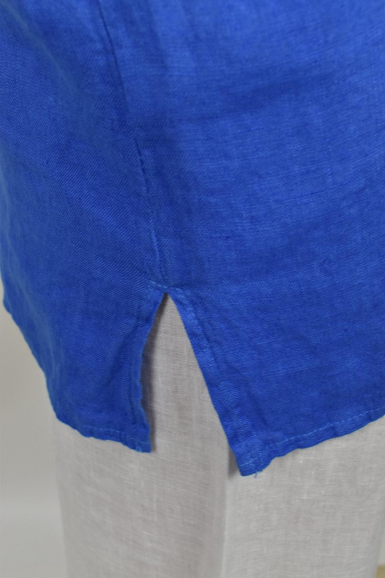MAGMAXPE2101 BLUETTE MAGLIA DA DONNA GIROCOLLO CON MANICA A 34 100 LINO 3 1stAmerican maglia da donna girocollo con manica a 3/4 100% lino Made in Italy - t-shirt manica corta da donna mare in lino