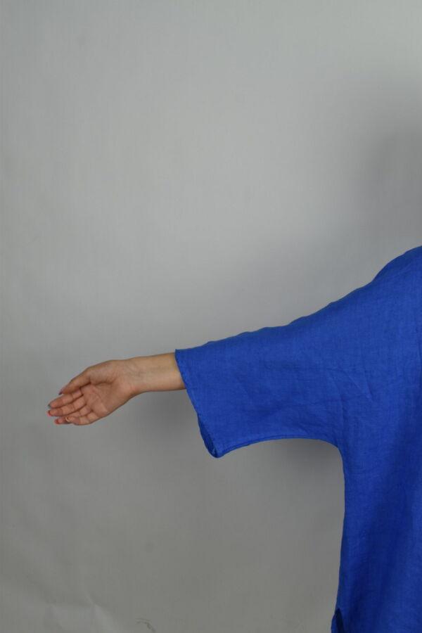 MAGMAXPE2101 BLUETTE MAGLIA DA DONNA GIROCOLLO CON MANICA A 34 100 LINO 4 1stAmerican maglia da donna girocollo con manica a 3/4 100% lino Made in Italy - t-shirt manica corta da donna mare in lino