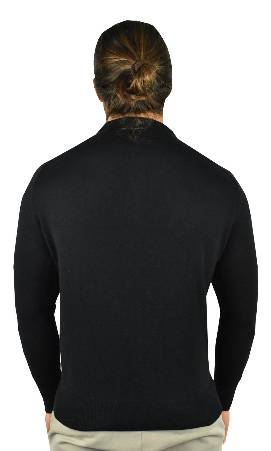 MARCO NERO POLO UOMO CASHMERE SETA CON 3 BOTTONI MANICA LUNGA 1 1stAmerican polo in cashmere e seta da uomo polo con 3 bottoni - maglia invernale finezza 14