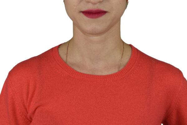 MAVISMBA CORALLO MAGLIA DONNA GIROCOLLO 100 CASHMERE MANICA LUNGA 2 1stAmerican maglia girocollo 100% puro cashmere Made in Italy da donna con lavorazione traforata - finezza 12