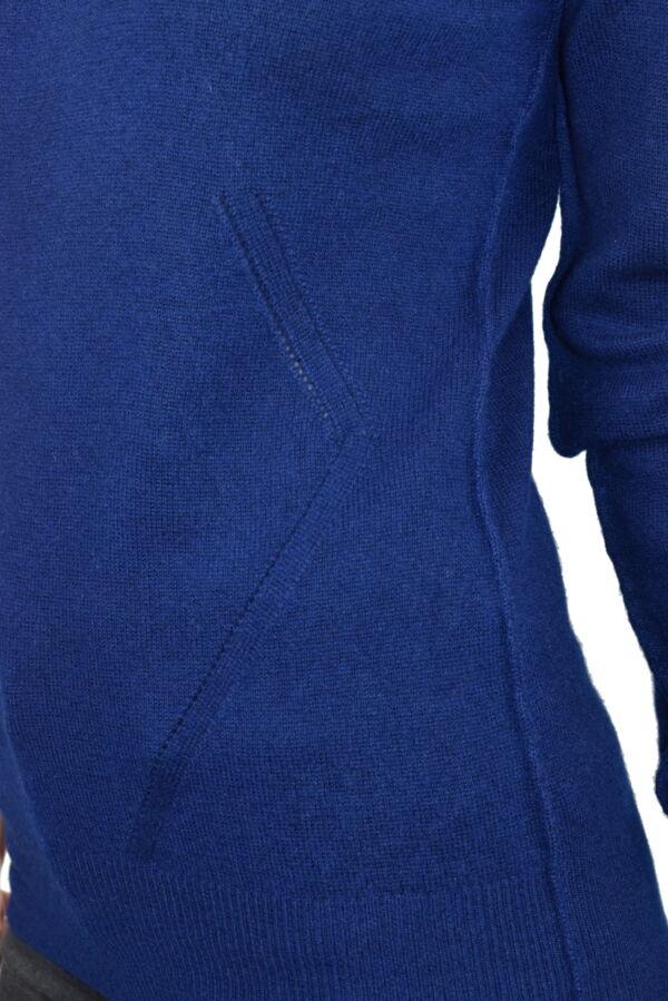 MAVISMBA NAVY MAGLIA DONNA GIROCOLLO 100 CASHMERE MANICA LUNGA 4 1stAmerican maglia girocollo 100% puro cashmere Made in Italy da donna con lavorazione traforata - finezza 12