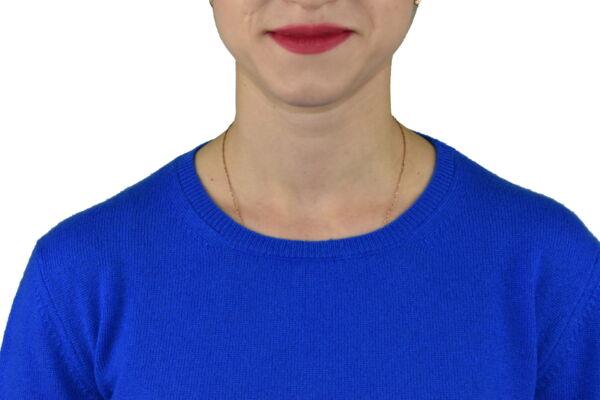 MAVISMBA ROYAL MAGLIA DONNA GIROCOLLO 100 CASHMERE MANICA LUNGA 2 1stAmerican maglia girocollo 100% puro cashmere Made in Italy da donna con lavorazione traforata - finezza 12