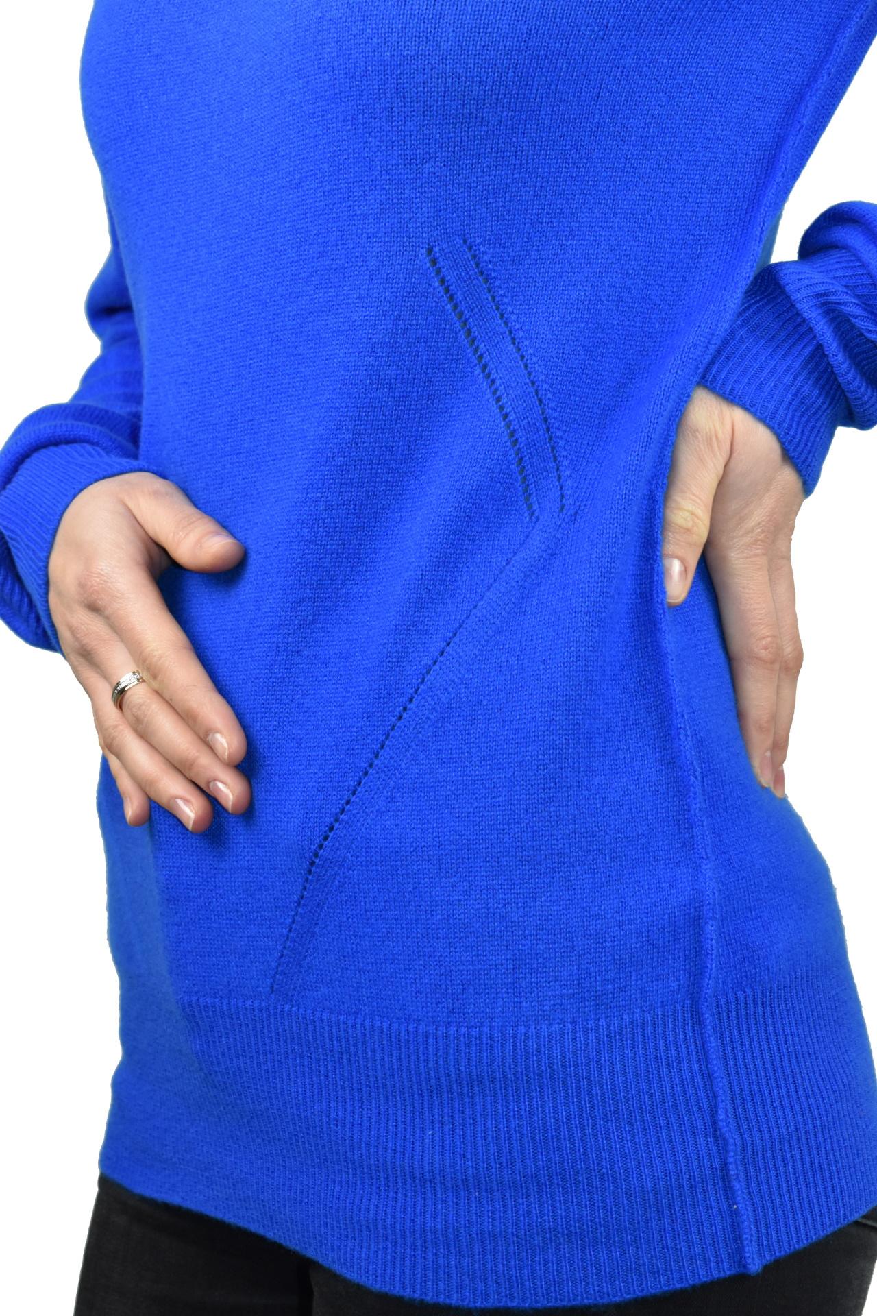 MAVISMBA ROYAL MAGLIA DONNA GIROCOLLO 100 CASHMERE MANICA LUNGA 4 1stAmerican maglia girocollo 100% puro cashmere Made in Italy da donna con lavorazione traforata - finezza 12