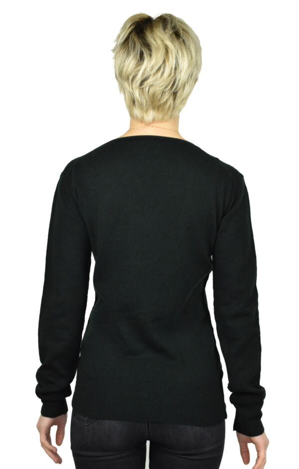 MAVISMBA VERDONE MAGLIA DONNA GIROCOLLO 100 CASHMERE MANICA LUNGA 1 1stAmerican maglia girocollo 100% puro cashmere Made in Italy da donna con lavorazione traforata - finezza 12