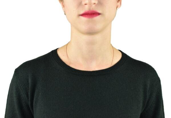 MAVISMBA VERDONE MAGLIA DONNA GIROCOLLO 100 CASHMERE MANICA LUNGA 2 1stAmerican maglia girocollo 100% puro cashmere Made in Italy da donna con lavorazione traforata - finezza 12