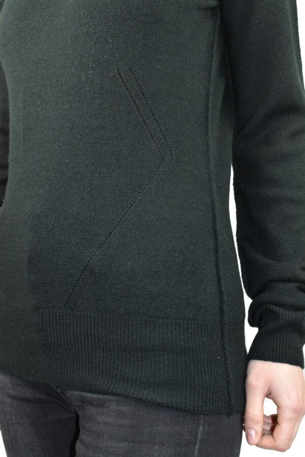 MAVISMBA VERDONE MAGLIA DONNA GIROCOLLO 100 CASHMERE MANICA LUNGA 4 1stAmerican maglia girocollo 100% puro cashmere Made in Italy da donna con lavorazione traforata - finezza 12