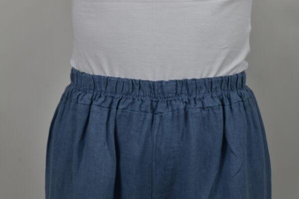 PANMAXPE2102 JEANS PANTALONE DA DONNA A GAMBA LARGA 100 LINO 2 1stAmerican pantalone da donna a gamba larga 100% lino Made in Italy - pantalone mare donna